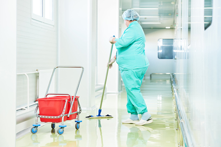 Woman cleaning — Commercial Cleaning in Port Macquarie, NSW